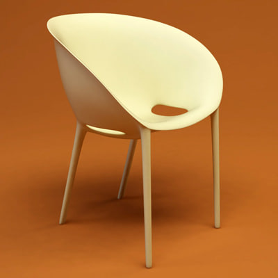 soft egg chair 3d 3ds