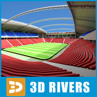 3d model of soccer stadium
