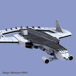 3d 3ds space carrier victory spaceship