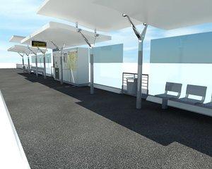 3d model tramway station