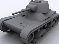 3d soviet t-26s tank