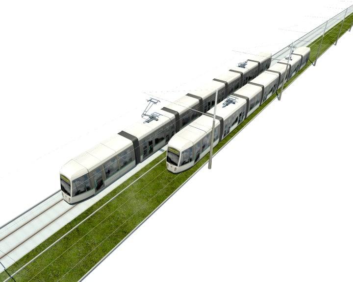 paris tramway 3d model