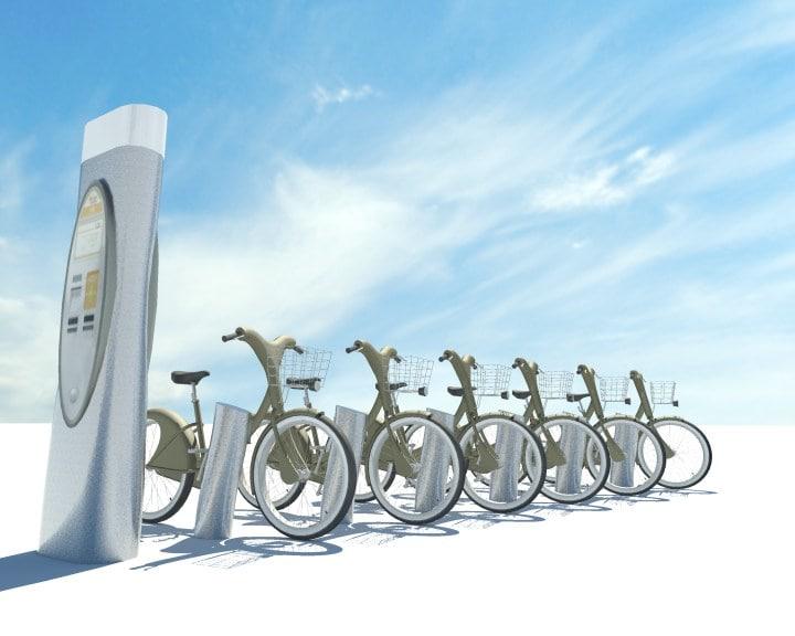 paris velib bicycle 3d model