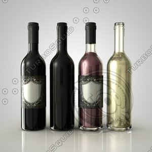 3d 3ds wine bottle