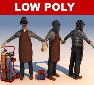 3ds max welder worker