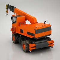 3d model telescopic crane wheeled
