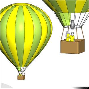 free rfa model hot air balloon