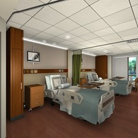 Hospital Room & Nurse Station