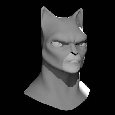 3d model cartoon cat head