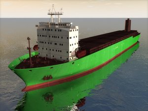 cinema4d general cargo ship