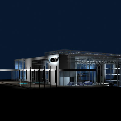 3d model car showroom