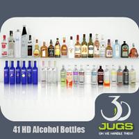 3d alcohol bottles 3djug bar