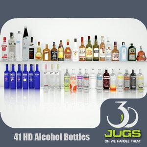3d alcohol bottles 3djug bar