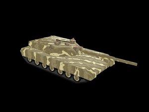 russian t-95 black eagle 3d model