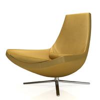 max armchair b italia metropolitan