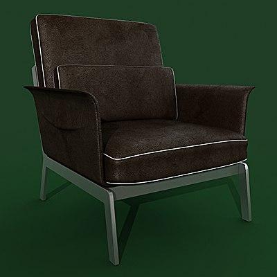 3d 3ds armchair flexform happy hour