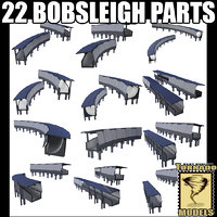 Bobsleigh track - 22 parts