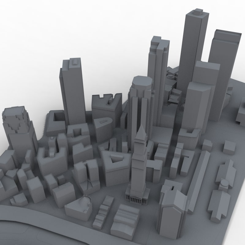 boston massachusetts 3d model