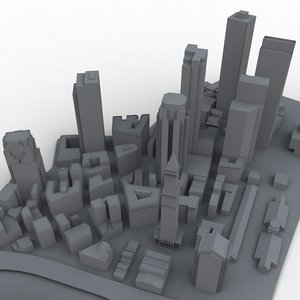 boston massachusetts 3d model