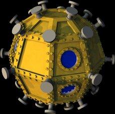 3d cavorite sphere model