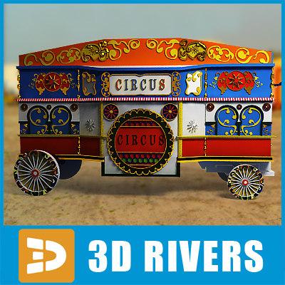 maya old circus trailer