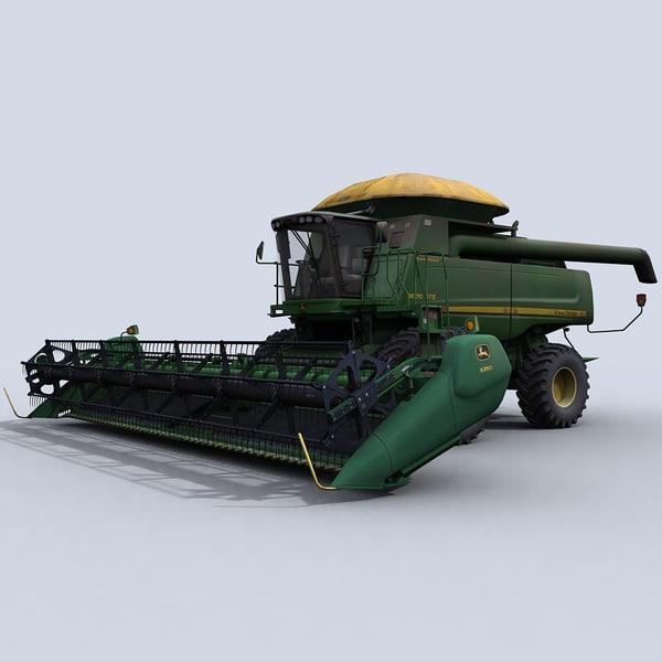 combine harvester draper platform 3d model