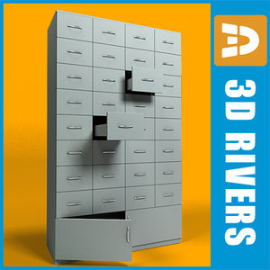 3d pharmacy cabinet model