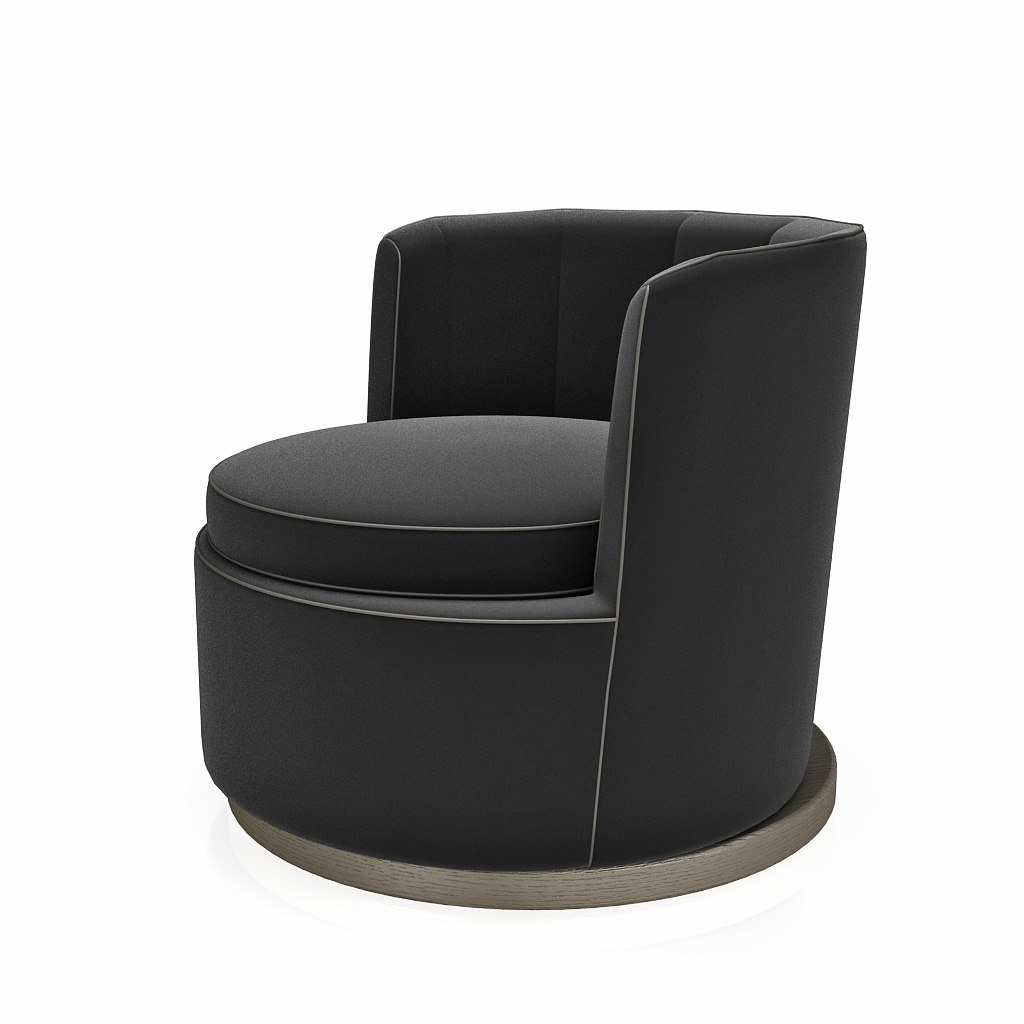 armchair flexform mood adele 3d model