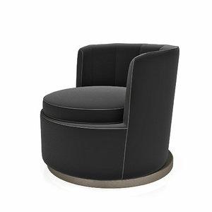 armchair flexform mood adele 3d model