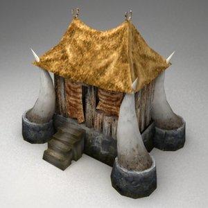 barbaric hut 3d model