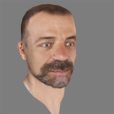 head games simulation 3d model