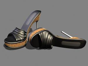 3d 5 cork heels model