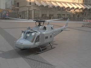 3d huey helicopter