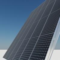 3d pv tracker solar panel