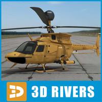 3dsmax oh-58d helicopter kiowa war