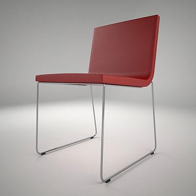 andreu world linear comfort chair 3d model