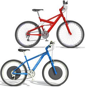 2 mountain bikes 01 3d 3ds