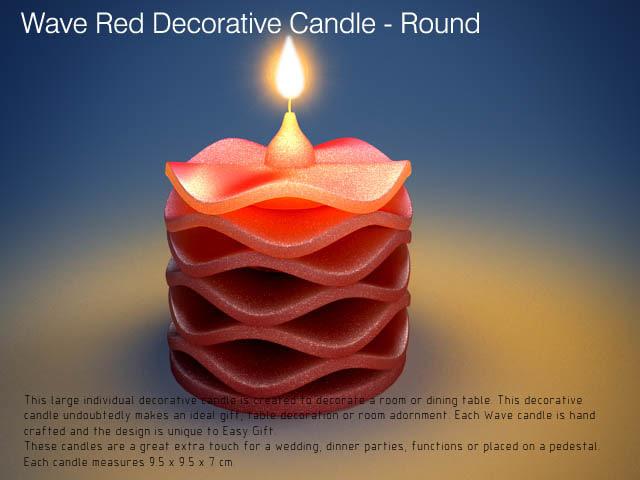 3d decor red wave model