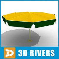 3d model umbrella market stall