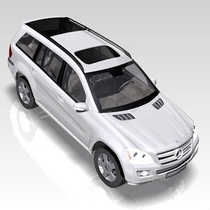 car mercedes gl class 3d model