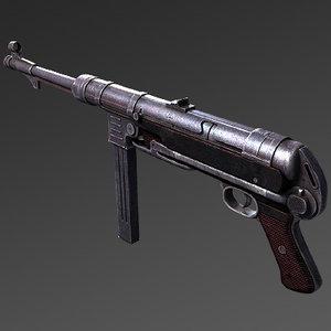 3d model mp40 machine gun