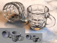 free glass mug 3d model