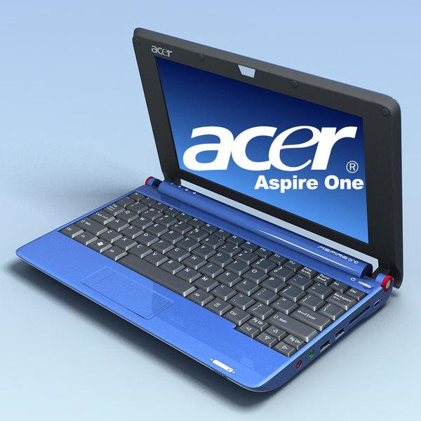 3d notebook acer aspire aoa150