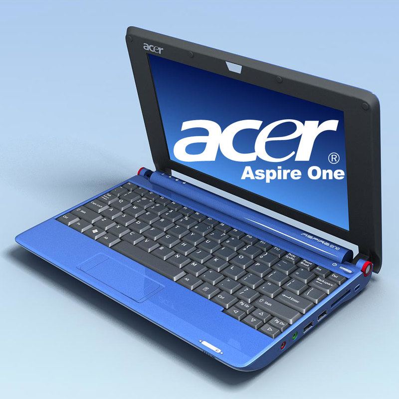 3d notebook acer aspire aoa150