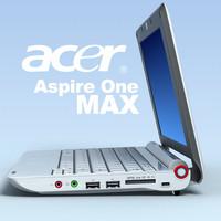 3d model notebook acer aspire aoa150