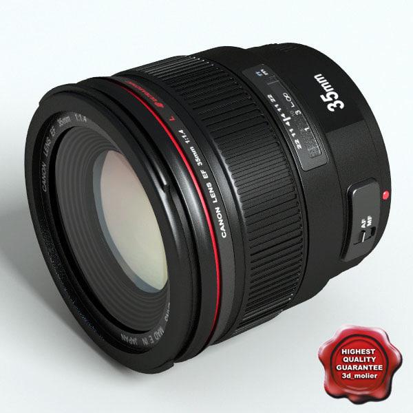 camera kit lens canon 3d model