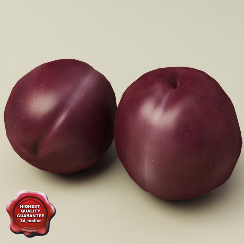 3d model of plum modelled