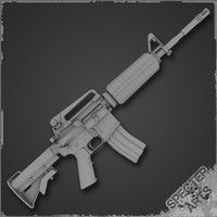 3d m4a1 m16 rifle carbine