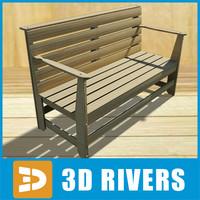 3d sauna bench