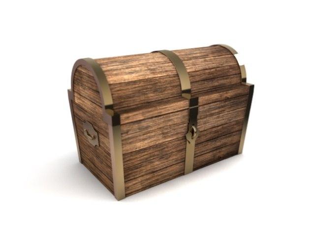 treasure chest 3d c4d